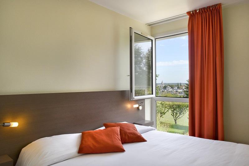 Chambre avec vue château-hotel luccotel-loches-valdeloire