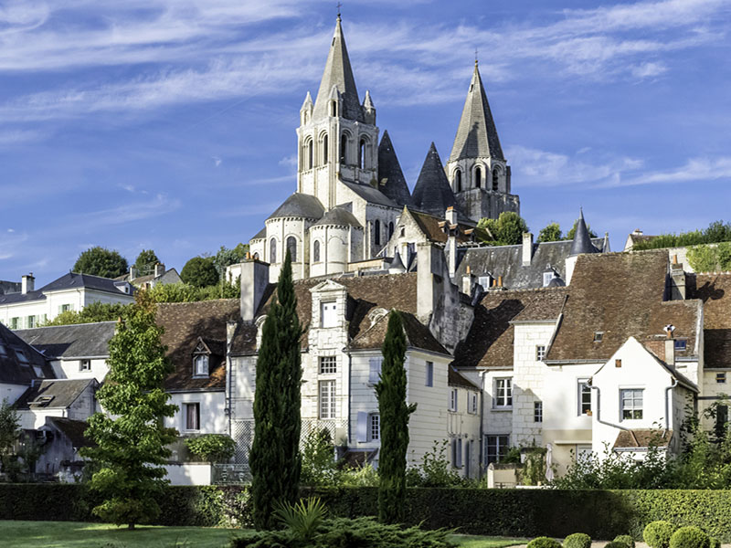 Saint-Ours Collegiate church - Loches, Loire Valley, France.